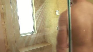 The Beautiful Asian Whore Rayveness Makes A Professional Hand Job In The Shower With Her Lover