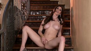 Just Amber Stays In High Heels And Rubs Clit