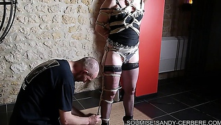 French Bondage Shibari Hogtied  No Sex