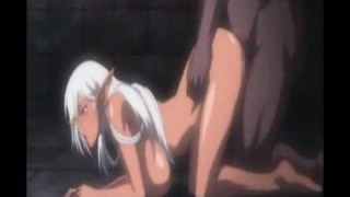 Busty Dark Elf Banged From Behind - Hentai