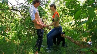 Doggy Style Fucking In The Woods With Beata