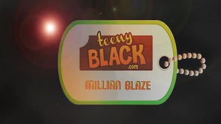 Teenyblack 18 Yearold Black Teen Millian Blaze Interracial S...