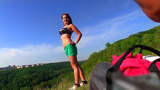 I Offered Tereza Some Money Before Photosession For A Sweet Outdoors Blowjob