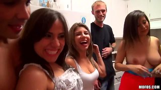 Hot College Sex Party With A Lot Of Sucking Drunk Bitches