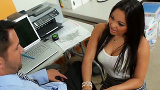 Adrianna Luna Banged Her Sexy Boss In The Office