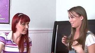 Capri Anderson Pulls Marie Mccray On The Bed And Asks Her To Sit On Her Pretty Face