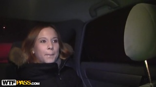 Sexy Redhead Fucked In A Car