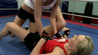 Appetizing Chicks Nikita And Tanya Tate Fighting At The Ring To Dominate