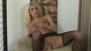 Beautiful Lady Alicia Secrets Has Glass Dildo And Amazing Lingerie On Her Delicious Body