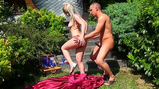 Sweet Girlie Is Getting Fucked Hard Outdoor