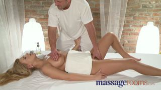 Massage Rooms Two Young Girls Get A Big Cock