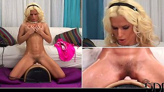 Glamorous Busty Hottie Victoria Rush Rides Sybian