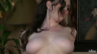Just Amber Fucks Herself With A Fat Dildo