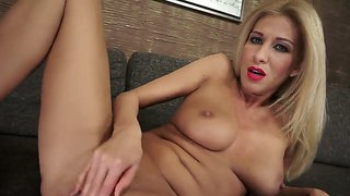 Blonde Touches Her Moist Honeypot As She Has Fun Alone On Cam