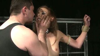 Mouthwatering Blondie Essy Suffers From Hardcore Torment By Brutal Dude Pinching Her Nipples And Clit