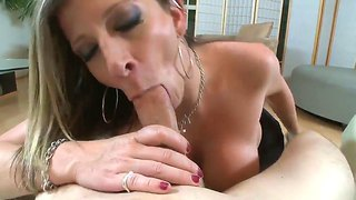 Busty Milf Sara Jay Likes Sucking Huge Cock While Gagging And Moaning Of Pleasure