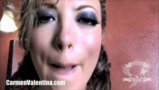 Horny Slut Carmen Valentina Gets Off In The Bathroom