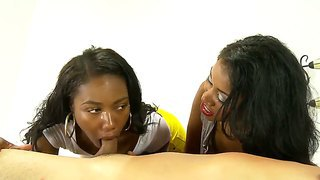 Sexy Ebony Beauty Chanell Taught How To Pleasure A Huge White Cock By Her Mum