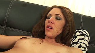 Katie Angel's Hairy Twat Is Licked And Kissed