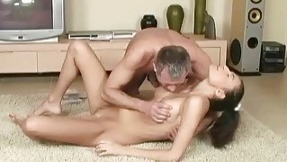 Hot Teen Fucking With Lucky Old Man