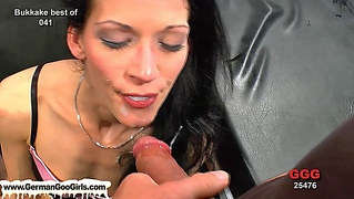 Brunette Babes Get Jizz Satisfaction