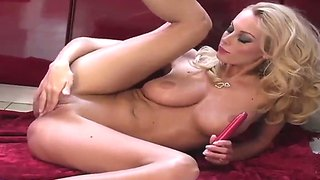 Baby With Big Natural Tits Anita Dark Masturbates With A Red Dildo