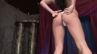 Glamorous Goddess With Perfect Body Named Aletta Ocean Demonstrates Unforgettable Pole Dance