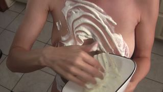 Lelu Love-Giantess Eating Whip Cream