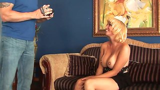 Busty And Slutty Blonde Sophia Mounds Called Handsome Cameraman