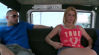 Tall And Bust Blonde With Model-Quality Body Visits Our Hardcore Bus