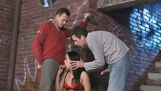 Young Bitch Barbie Pink Gets Double Penetration From Frank Gun And Steve Holmes