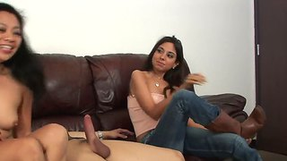 Lucky Starr And Trinity St. Clair Caress Dick
