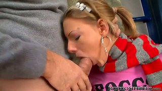 Bernice And Denni Giving A Hot Double Blowjob