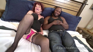 Gilf Fucks Big Black Cock In Interracial Video