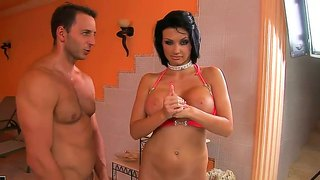 Backstage With Big Boobed Brunette Aletta Ocean