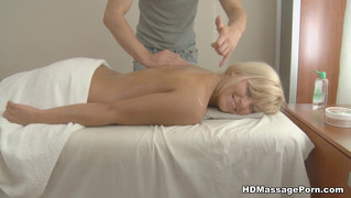Blonde Girl Enjoys Massage And Fuck