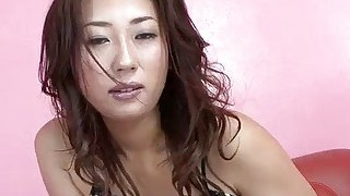 Bushy Asian Toying Herself