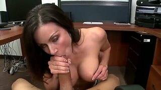 Kendra Lust Makes A Sloppy Hot Office Blowjob