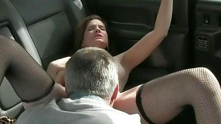 Customer Boned By Cab Driver And Squirts