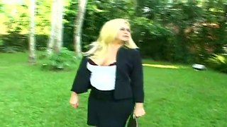 Tight Cocked Anselmo Metes Hot Blonde Suzanna Walking Alone In The Park And Seducing Her To Suck His Nasty Dick.