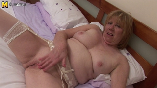 Old British Mature Pilot Masturbating