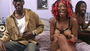 Big Booty Black Whore Takes It In The Mouth