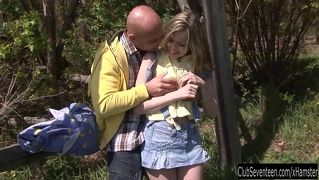 Teen Abby Fuck Outdoors