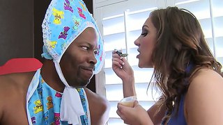 Horny Mom Kiera King Takes Care Of Big Black Boy