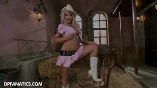 Meet Brittany, The Cute Little Innocent Cowgirl. Or Isn't...