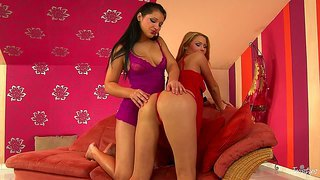 The Gorgeous Antonia Gets Dirty In A Lesbo Action