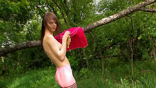 A Teen Goddess Sticks A Banana Up Her Snatch