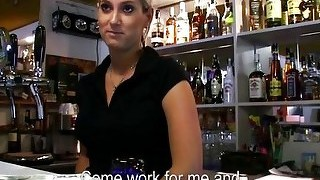 Bubble Butt Barmaid Lenka Paid For Sex