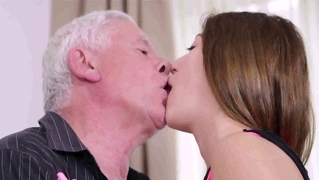 Brunette Teen Fucked By Old Man
