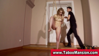 Blonde Hoe Gets Tied Up